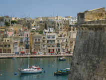View to Kalkara, Malta. Picturesque village of Malta island, occupying one of the small areas of the Great Harbor. A view from Birgu town Stock Photography