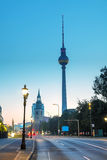 View to Karl Libknecht street in Berlin Royalty Free Stock Images