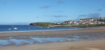 View to Kilkee beach in Ireland. View to Kilkee beach in county Clare in Ireland Royalty Free Stock Photos