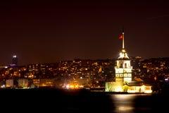 View to the kiz kulesi at night