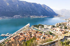 A view to Kotor. From the mountains Royalty Free Stock Photo