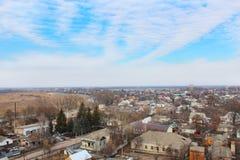 View to Kozelets town bird's-eye view Stock Photos