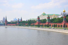 A view to Kremlin from Moscow river, Moscow, Russi Royalty Free Stock Photography
