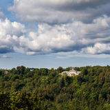View to the Krimulda Palace on hill, Latvia Royalty Free Stock Image