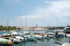 View to Krk from the boat, Croatia royalty free stock photos