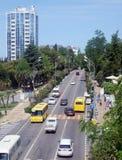 View to Kurortny prospekt, high street of Sochi, Russia Stock Image