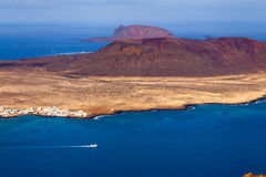 View to La Graciosa  - volcanic island, Canary Stock Photos