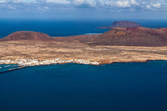 View to La Graciosa  - volcanic island, Canary Stock Images