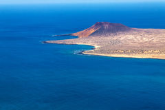 View to La Graciosa  - volcanic island, Canary Royalty Free Stock Photography