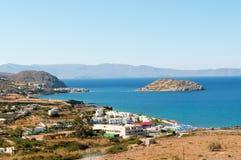 View to lagoon. Near Agios Nicolaos, Crete island, Greece Royalty Free Stock Images