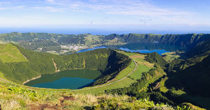View to lagoons of Sete Cidades on Azores Royalty Free Stock Photography