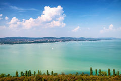 View to Lake Balato from Tihany,Hungary Stock Image