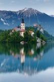View to lake Bled, Slovenia Royalty Free Stock Photo