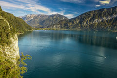 View to Lake Brienz in autumn beautiful weather, Bernese Highlands, Switzerland Stock Photo