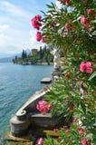 View to the lake Como. Italy. View to the lake Como from villa Monastero. Italy stock images