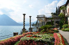 View to the lake Como. From villa Monastero. Italy stock photo