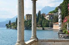 View to the lake Como. From villa Monastero. Italy royalty free stock photography