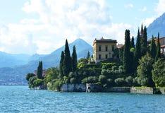 View to the lake Como. From villa Monastero. Italy royalty free stock image