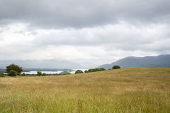 View to lake and hills at connemara in ireland Royalty Free Stock Photography