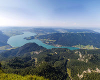 View To Lake Mondsee From Schafbergspitze 1.783m Royalty Free Stock Photography