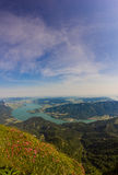 View To Lake Mondsee From Schafbergspitze 1.783 In The Morning Royalty Free Stock Photo