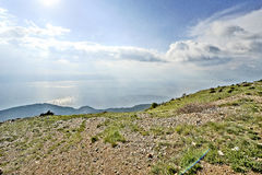 A view to lake Ohrid. From a mountain in Macedonia, on May 18th, 2011 Stock Photo