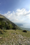 A view to lake Ohrid. From a mountain in Macedonia, on May 18th, 2011 Royalty Free Stock Photos