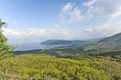 A view to lake Ohrid. From a mountain in Macedonia, on May 18th, 2011 Royalty Free Stock Images