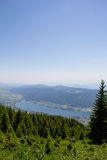 View To Lake Ossiach From Gerlitzen Stock Photos