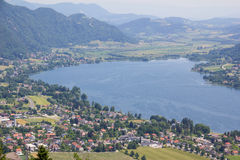 View To Lake Ossiach From Mt. Gerlitzen Royalty Free Stock Photo