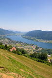 View To Lake Ossiach From Mt. Gerlitzen Stock Photography