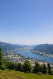 View To Lake Ossiach From Mt. Gerlitzen Stock Images