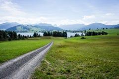 View to lake Sihl - Switzerland Royalty Free Stock Photos