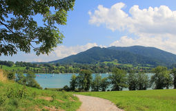 View to lake tegernsee from above Stock Photos