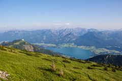 View To Lake Wolfgangsee From Schafbergspitze 1.783m In Salzkamergut Stock Image