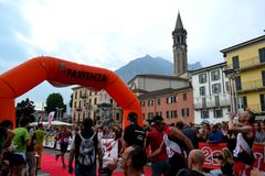 Sportsmen during the Fourth Edition of Lecco Resegone running competition. Stock Image