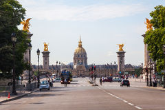 View to Les Invalides in Paris, France Stock Images