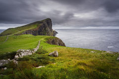 View to a lighthouse on Isle of Skye Royalty Free Stock Images