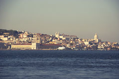 View to Lisbon and Tagus river, Portugal Stock Photography