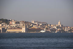 View to Lisbon and Tagus river, Portugal Royalty Free Stock Photos