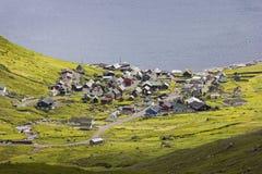 View to the little village Funningur
