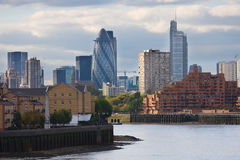 View to London skyscrapers Royalty Free Stock Images