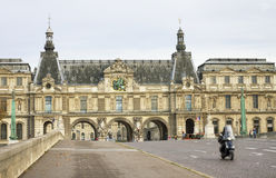 View to the Louvre Museum. Stock Image