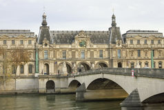 View to the Louvre Museum. Stock Photos