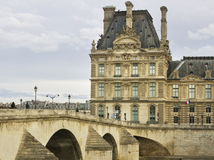 View to the Louvre Museum. Royalty Free Stock Image