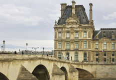 View to the Louvre Museum. Stock Photo