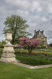 View to Louvre palace from the Tuileries Garden. Paris Stock Photo
