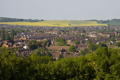 View to Luton from a hill royalty free stock photography