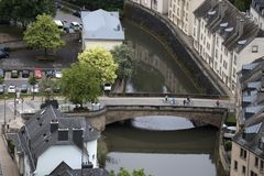 View to the Luxembourg. stock photo