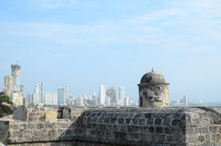 View to luxurious Bocagrande district of Cartagena Stock Images